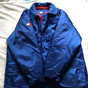 90s Mens Tommy Hilfiger Winter Jacket Missing Hood